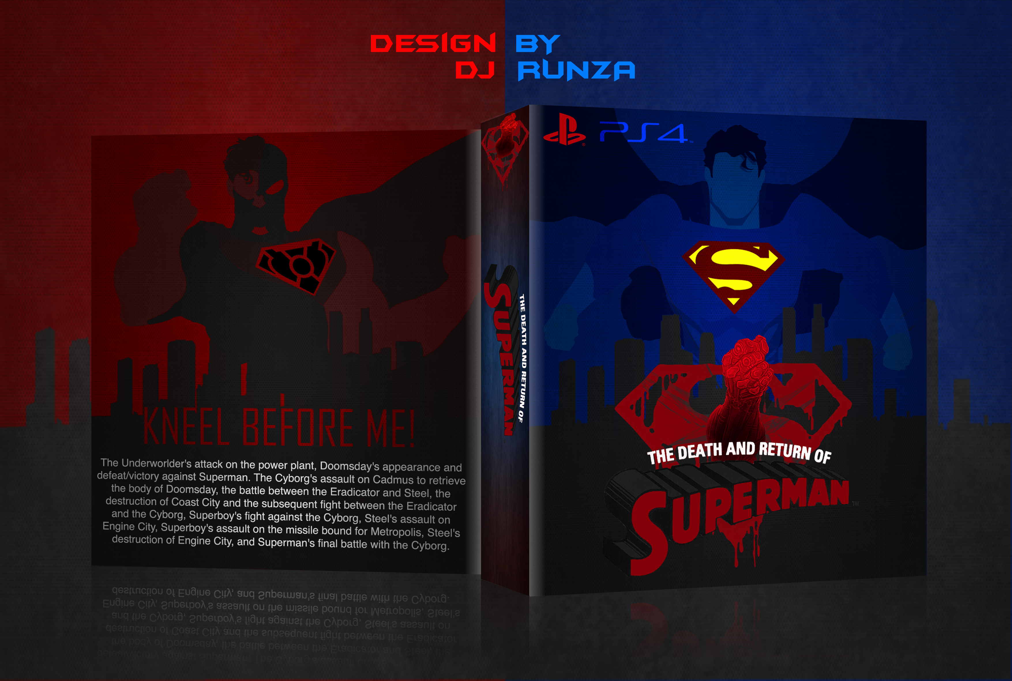 The Death And Return Of Superman box cover