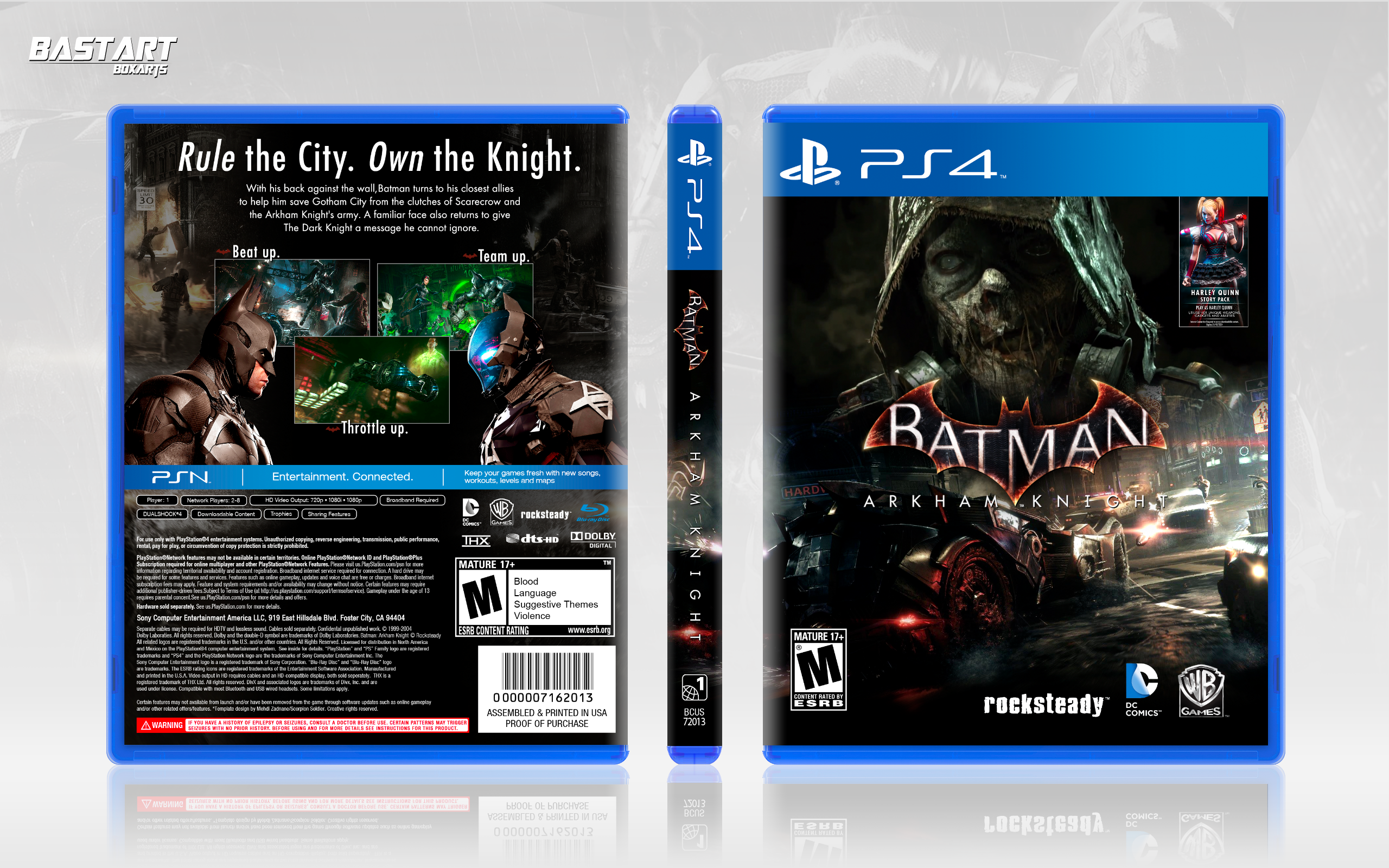 batman arkham knight playstation 4 box art cover by bastart