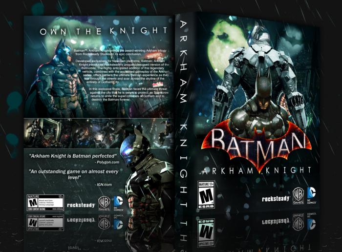Batman: Arkham Knight PlayStation 4 Box Art Cover by Adhiboy