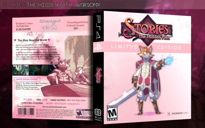 Stories: The Hidden Path box art cover