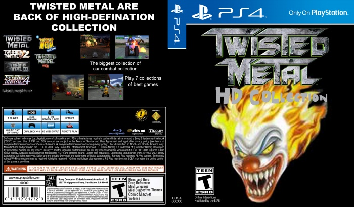 Twisted Metal: HD Collection box art cover