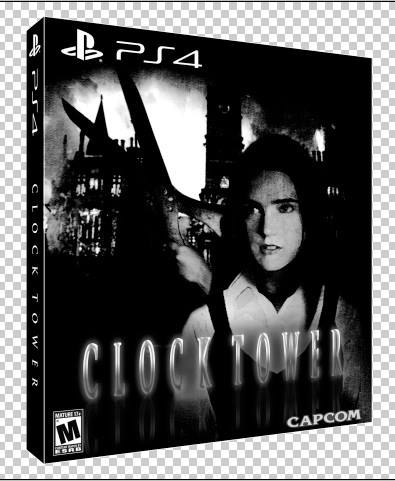 clock tower playstation 4 box art cover by jengasoft. Black Bedroom Furniture Sets. Home Design Ideas