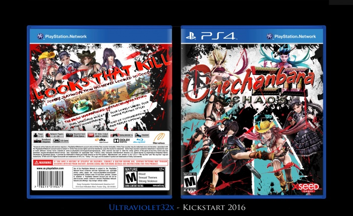 Onechanbara Z2 Chaos Playstation 4 Box Art Cover By Ultraviolet32x