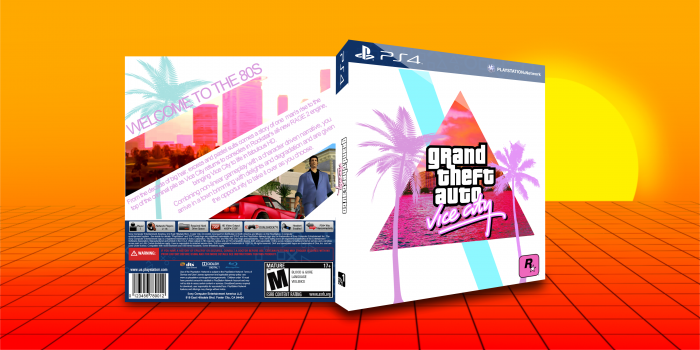 Grand theft auto vice city playstation 4 box art cover by for 4 box auto