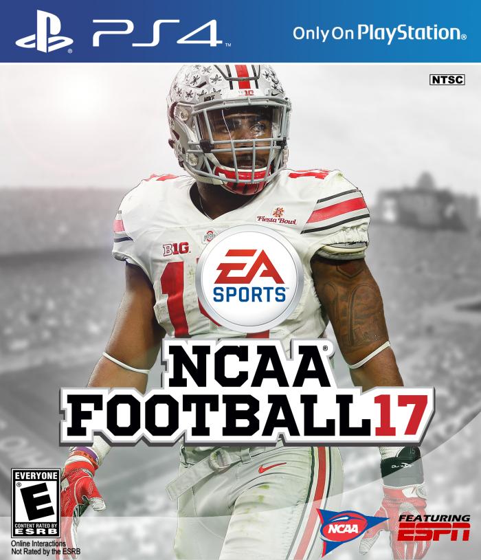 NCAA Football 17 PlayStation 4 Box Art Cover by Ausem