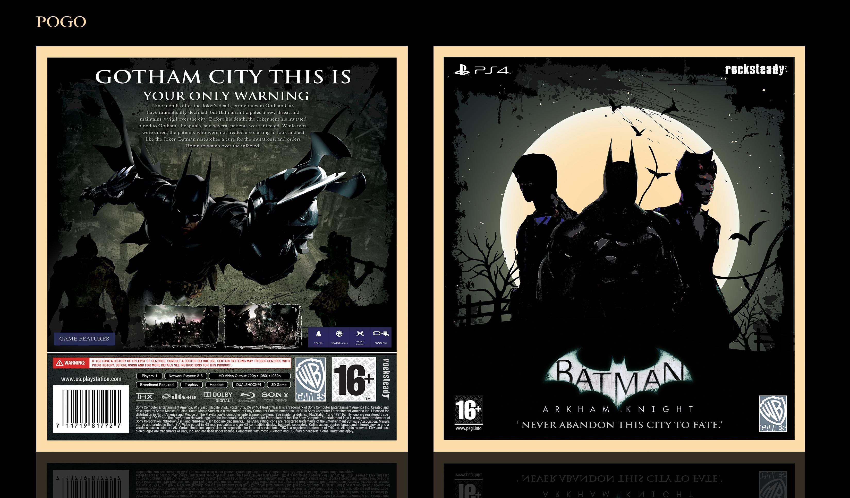 Batman: Arkham Knight PlayStation 4 Box Art Cover by pogo