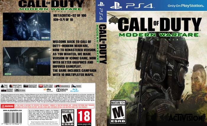 Call of Duty 4: Modern Warfare Remaster box art cover