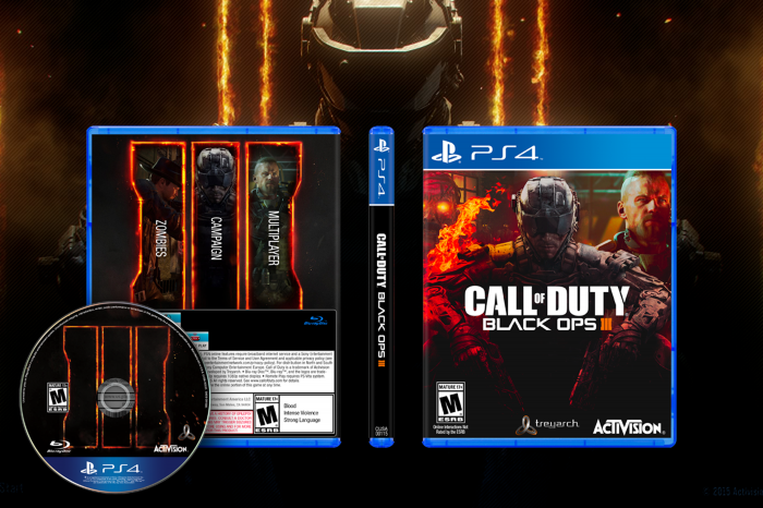 Call Of Duty Black Ops 3 Playstation 4 Box Art Cover By