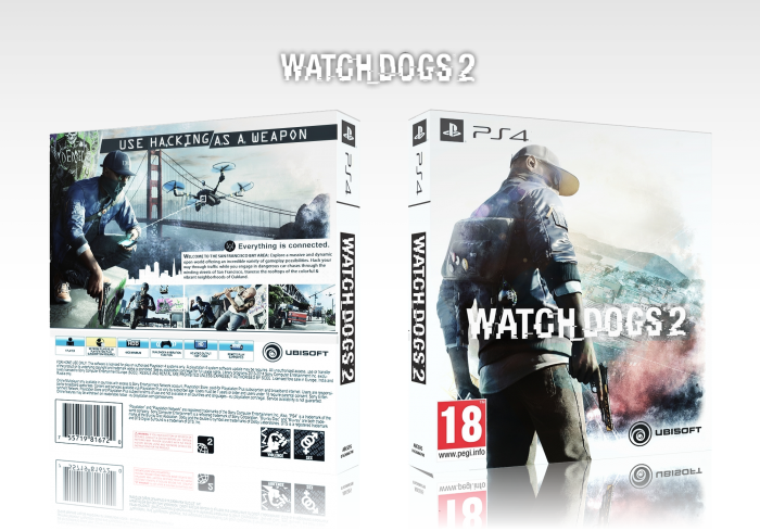 Watch Dogs 2 PlayStation 4 Box Art Cover by AB501UT3 Z3R0