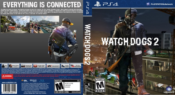 Watch Dogs 2 PlayStation 4 Box Art Cover by Alex Gozdecki