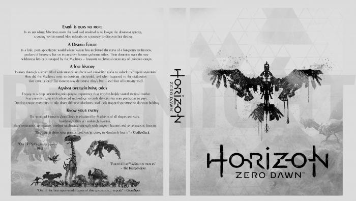Horizon Zero Dawn Box Art: Horizon Zero Dawn PlayStation 4 Box Art Cover By Might123