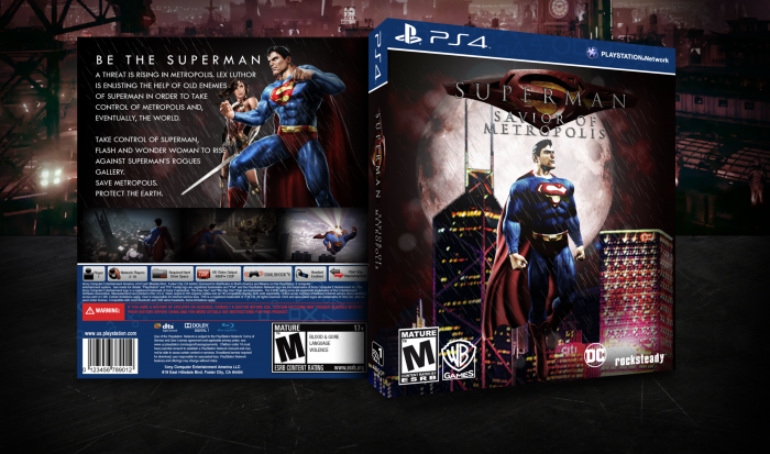 Superman: Savior of Metropolis box art cover