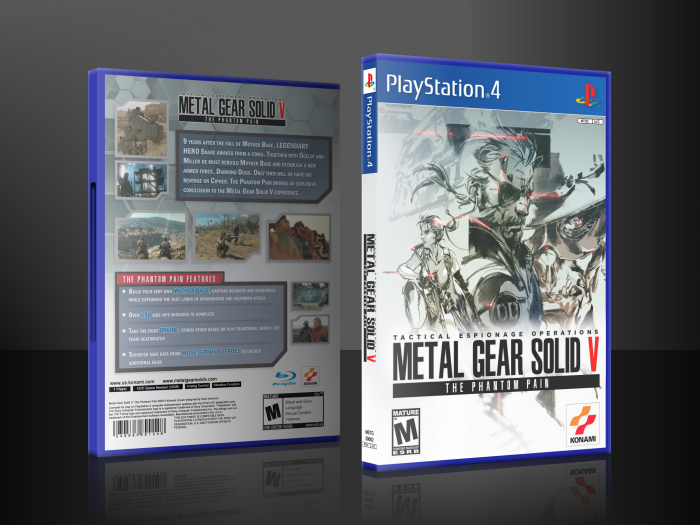 Metal Gear Solid V: The Phantom Pain box art cover