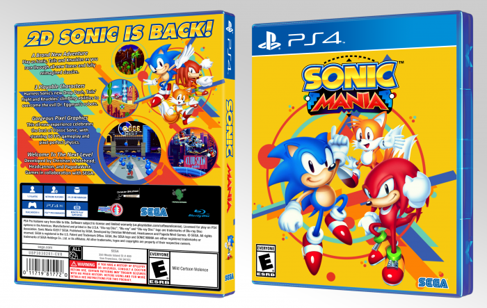 Sonic Mania box art cover
