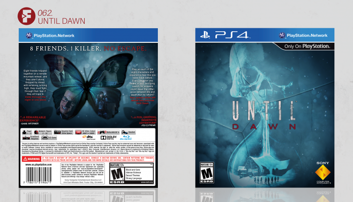 Until Dawn box art cover