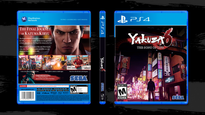 Yakuza 6: The Song of Life box art cover