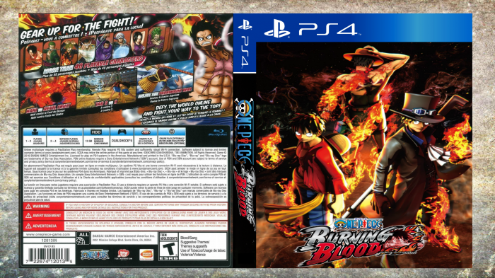One Piece Burning Blood box art cover