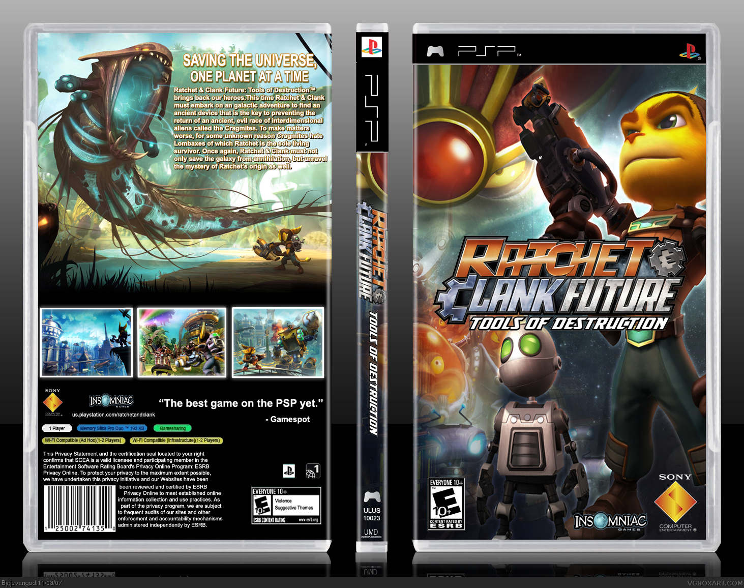 Viewing Full Size Ratchet Clank Future Tools Of Destruction Box
