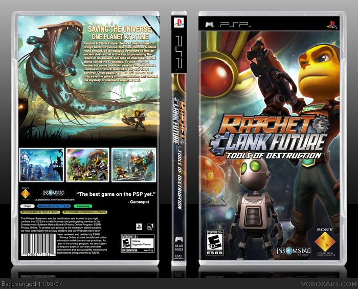 Ratchet & Clank Future: Tools Of Destruction PSP Box Art ...