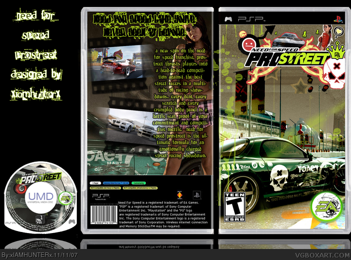 6fd9517b0 Need For Speed: ProStreet PSP Box Art Cover by xIAMHUNTERx