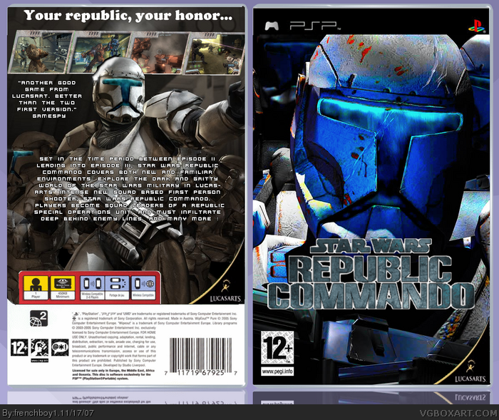 star wars republic commando psp box art cover by frenchboy1