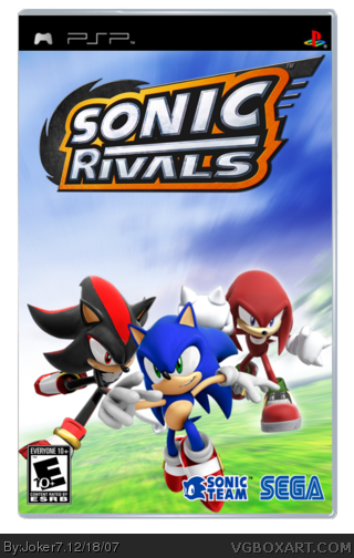Sonic Rivals box cover