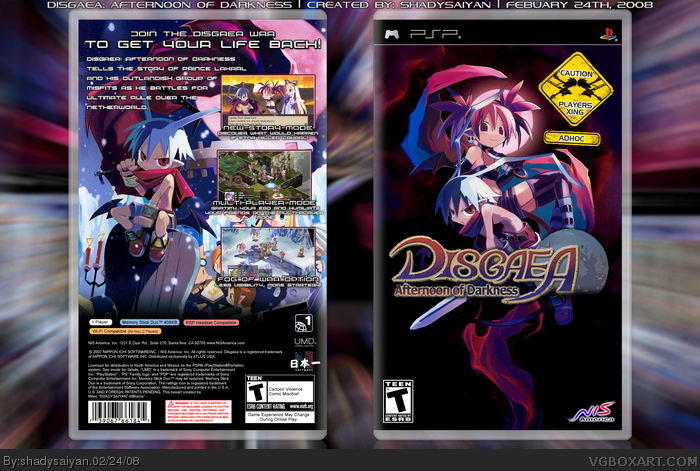 Disgaea: Afternoon of Darkness box art cover