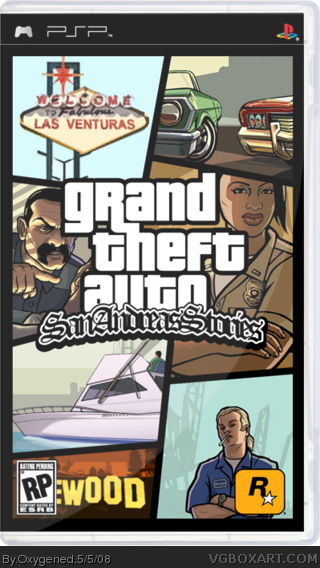 Grand Theft Auto San Andreas Stories Box Art Cover
