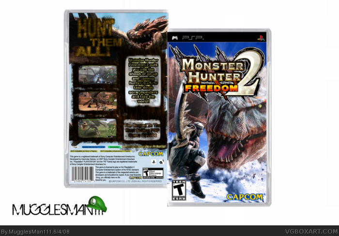 Monster Hunter Freedom 2 box art cover