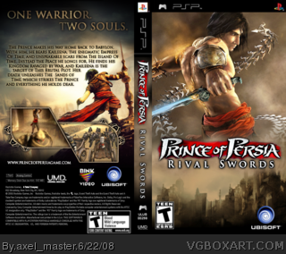 Prince Of Persia Rival Swords Psp Box Art Cover By Axel