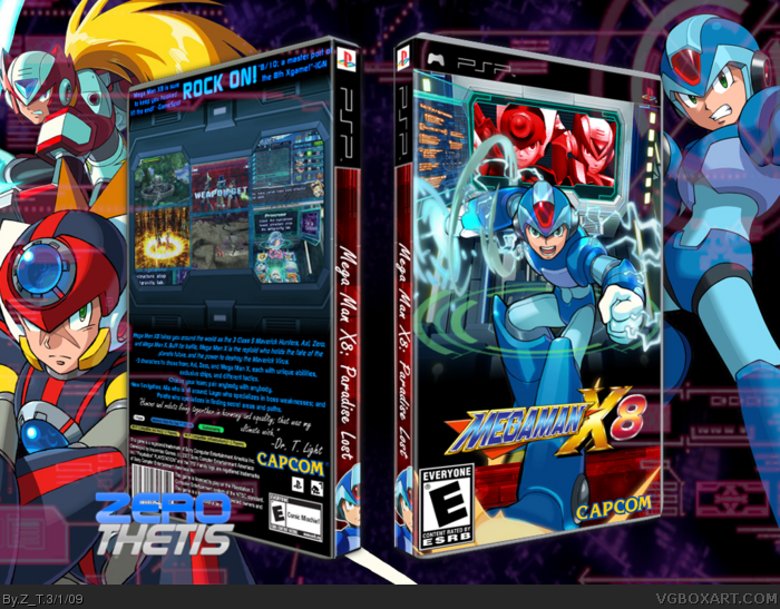 Megaman X8 box art cover