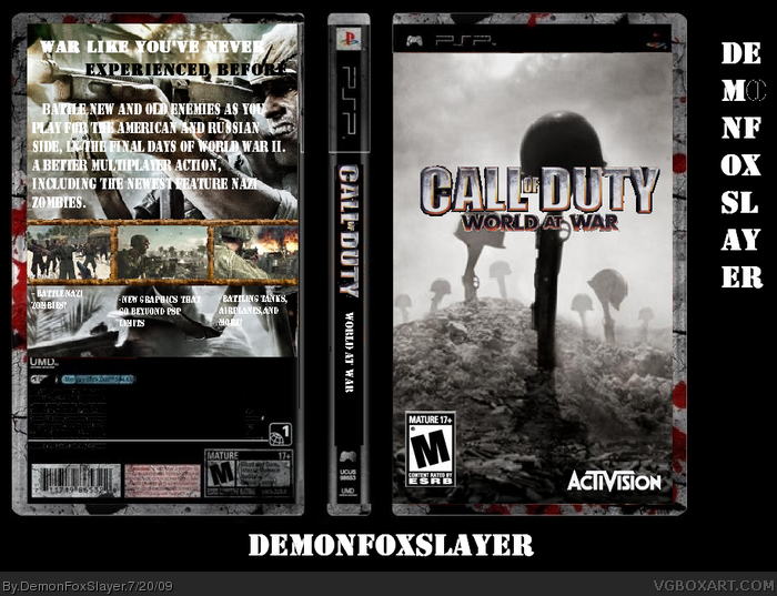 Call Of Duty World At War Psp Box Art Cover By Demonfoxslayer