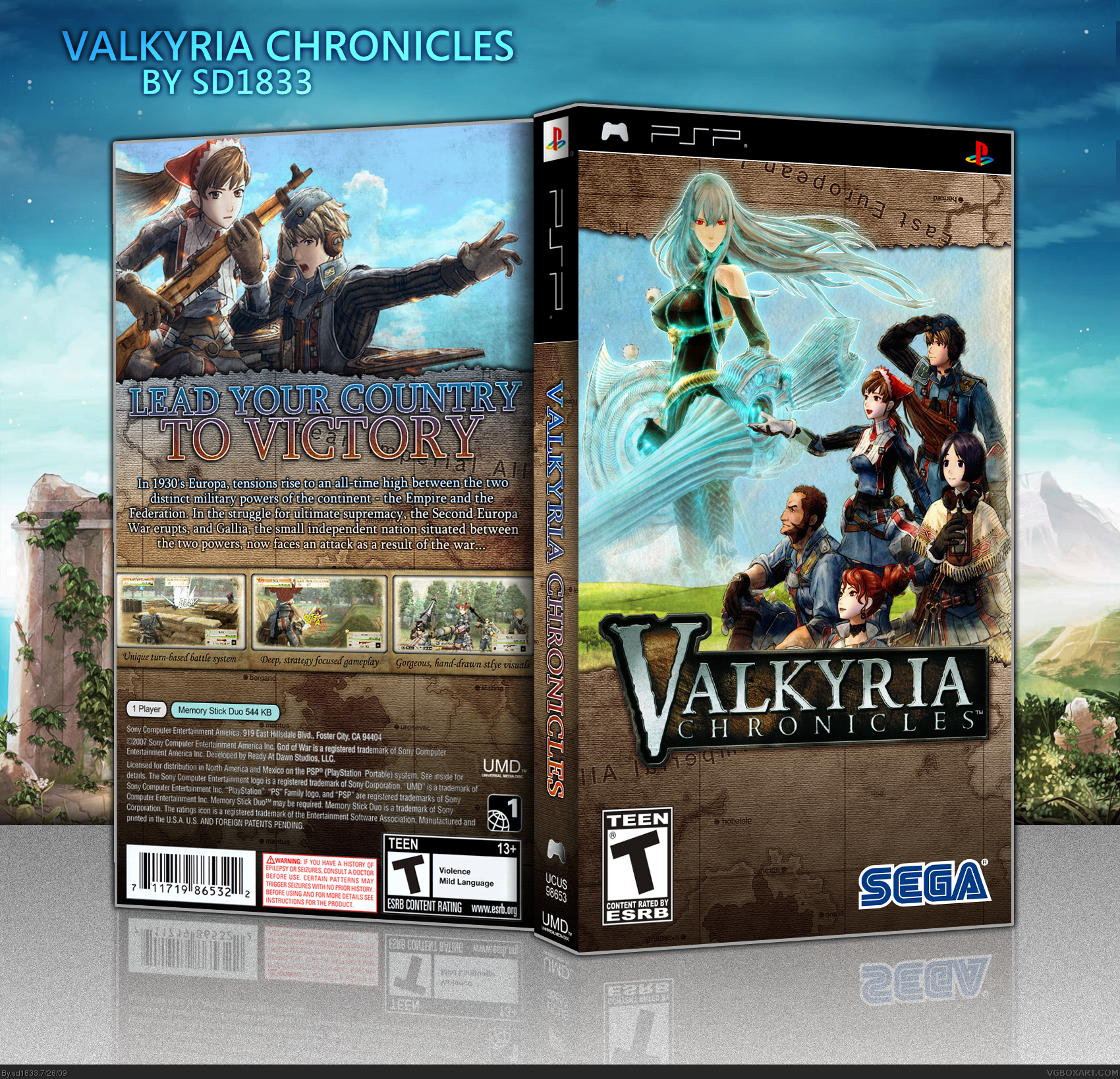 Valkyria Chronicles Box Cover Comments
