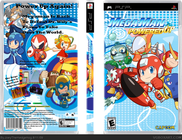 Megaman Powered Up 2 box art cover