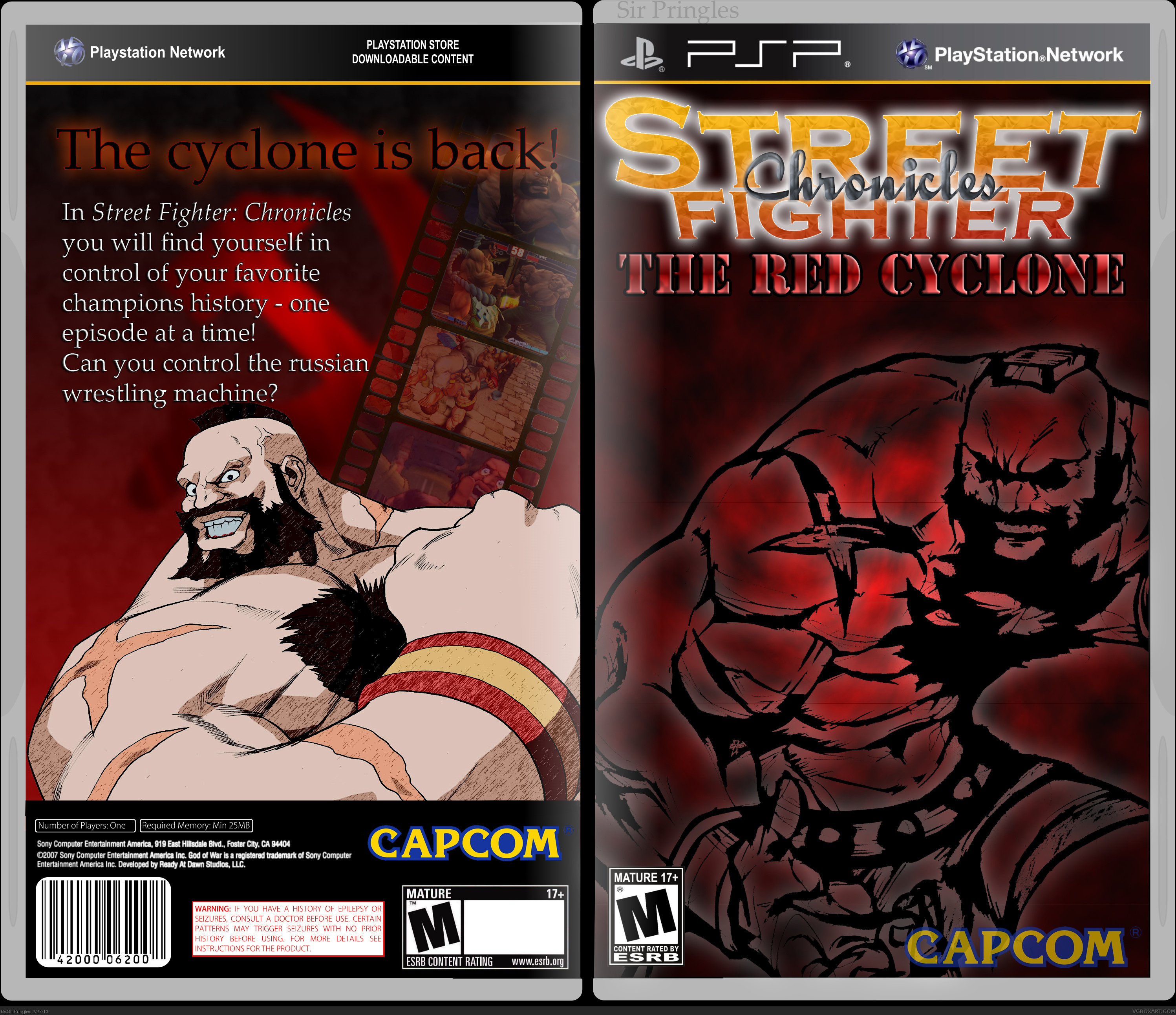 Street Fighter Chronicles: The Red Cyclone box cover