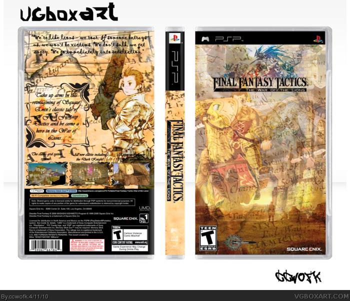 Final Fantasy Tactics War Of The Lions Psp Box Art Cover