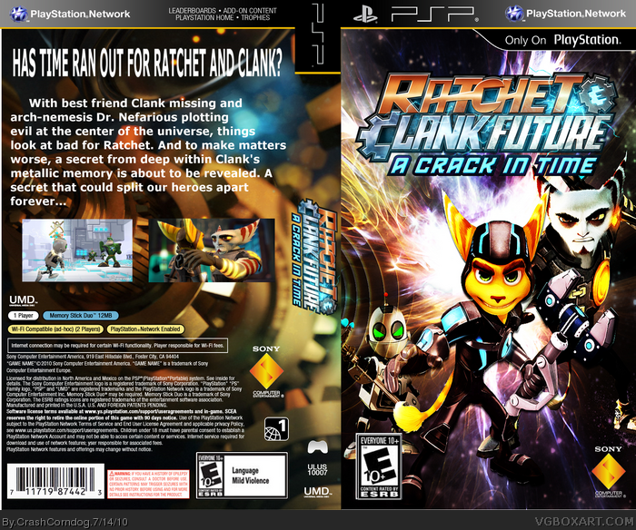 Ratchet & Clank Future: A Crack in Time PSP Box Art Cover ...