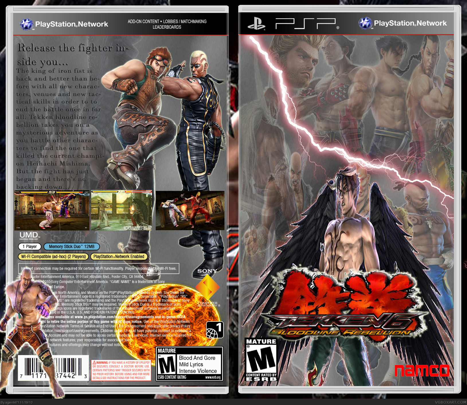 Tekken 6 Psp Box Art Cover By Agent471