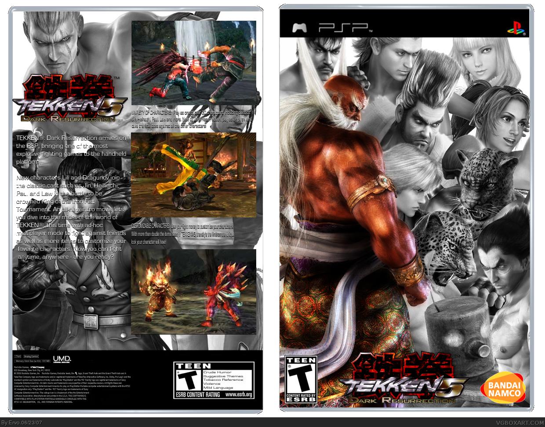 Tekken Dark Resurrection Psp Box Art Cover By Ervo