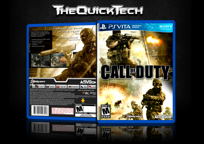 Playstation Vita Call Of Duty : Call of duty playstation vita box art cover by thequicktech