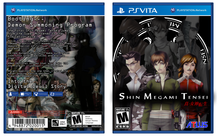Shin Megami Tensei box art cover