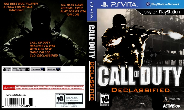 Ps Vita Cod Zombies: Call Of Duty: Declassified PlayStation Vita Box Art Cover