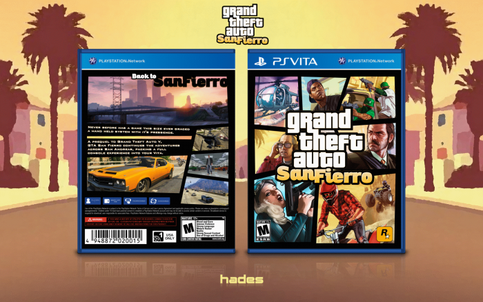 Grand Theft Auto: San Fierro PlayStation Vita Box Art Cover by Hades
