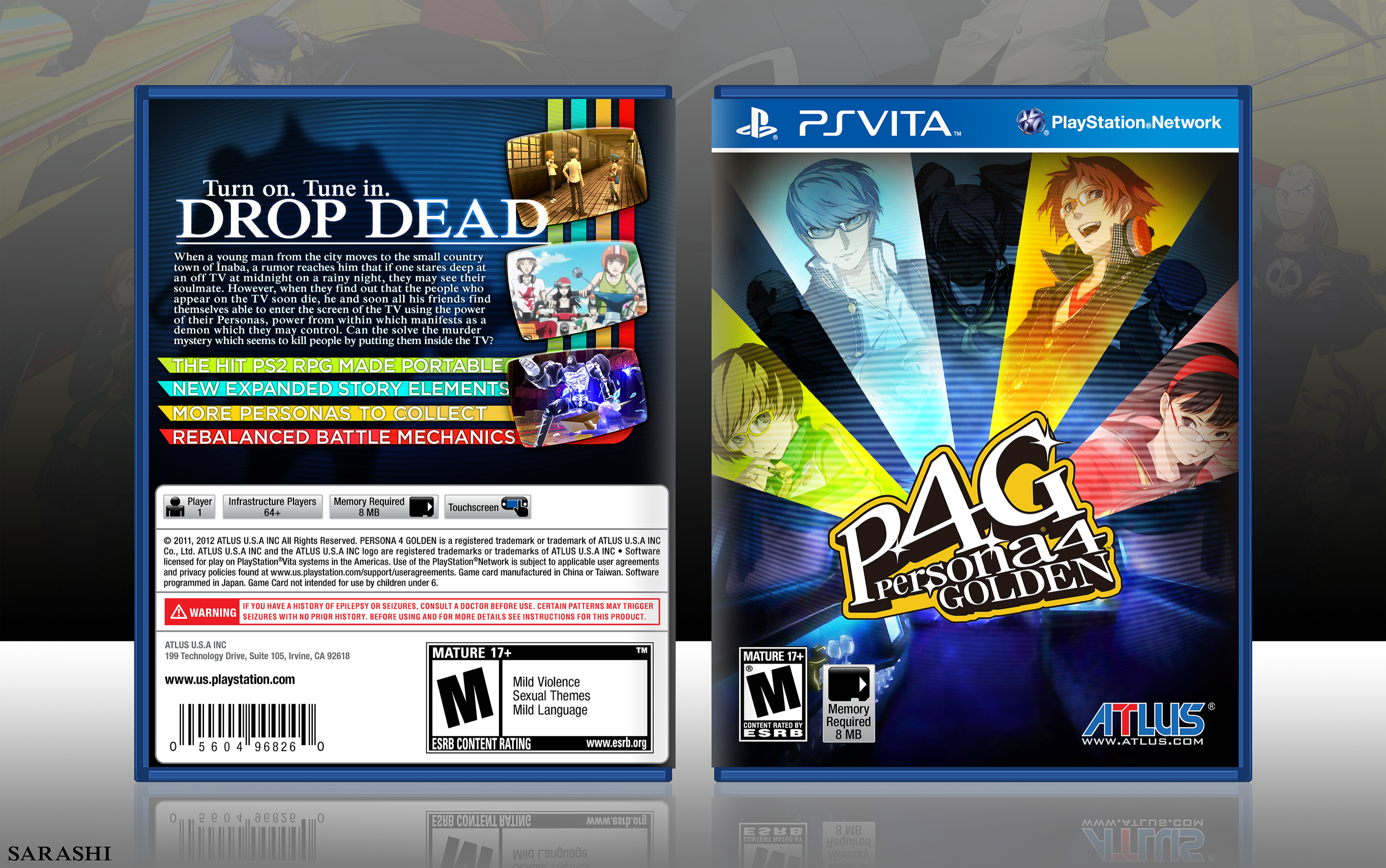 Persona 4 Golden box cover