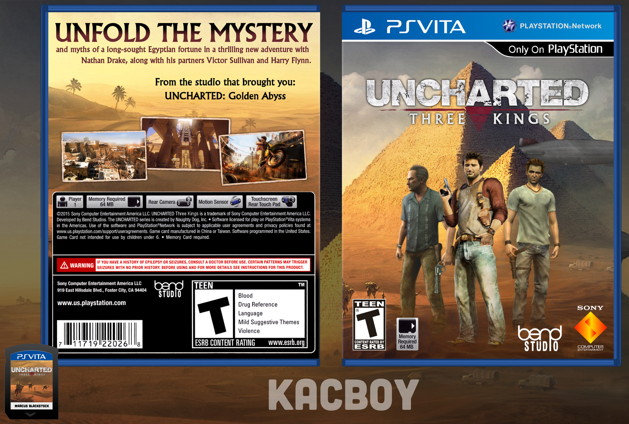 Uncharted: Three Kings box cover