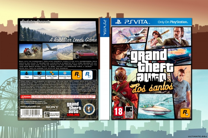 Playstation Vita Gta 5 : Grand theft auto los santos playstation vita box art