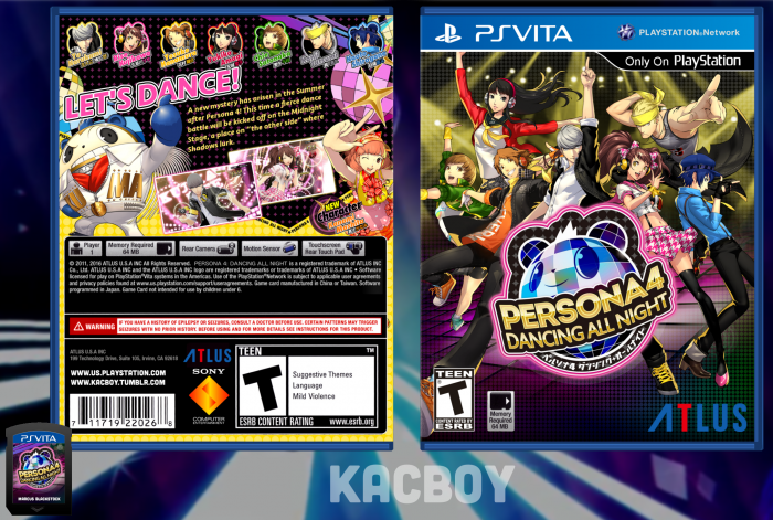 Persona 4: Dancing All Night box art cover