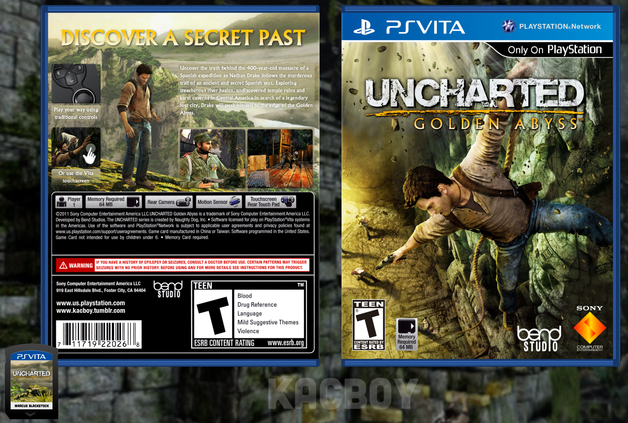 Uncharted: Golden Abyss box cover
