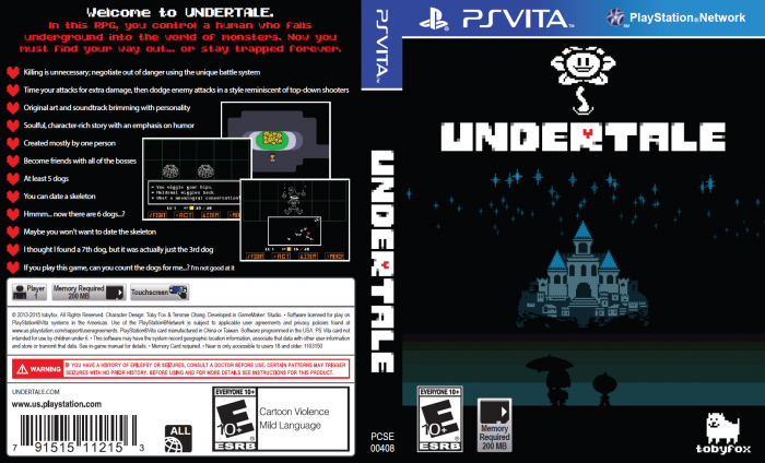 undertale playstation vita box art cover by mithrarin