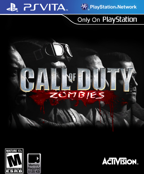 Playstation Vita Call Of Duty : Call of duty zombies front cover vita playstation